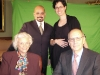Producer Robe Imbriano, Associate Producer Maria Matasar-Padilla and Justices Sandra Day O'Connor and Stephen G. Breyer.